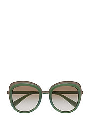 WOMEN'S SUNGLASSES - MATTE GUNMETAL/OPAL LT GREEN