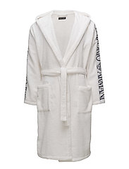 MEN'S WOVEN BATHROBE - 00010-BIANCO