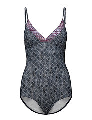Swimsuits - GREY BLUE