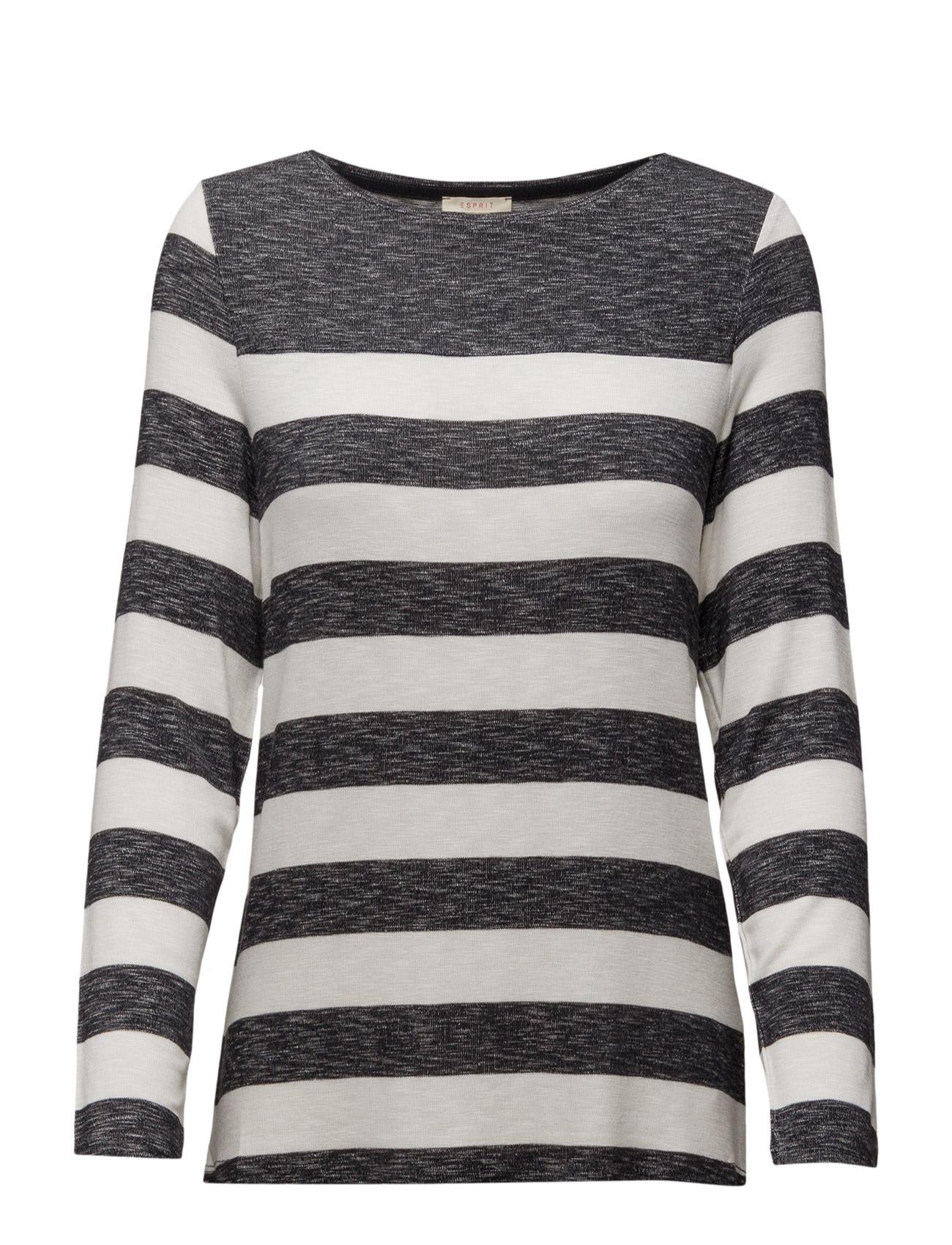T-Shirts Esprit Casual Langærmede til Damer i Blæk