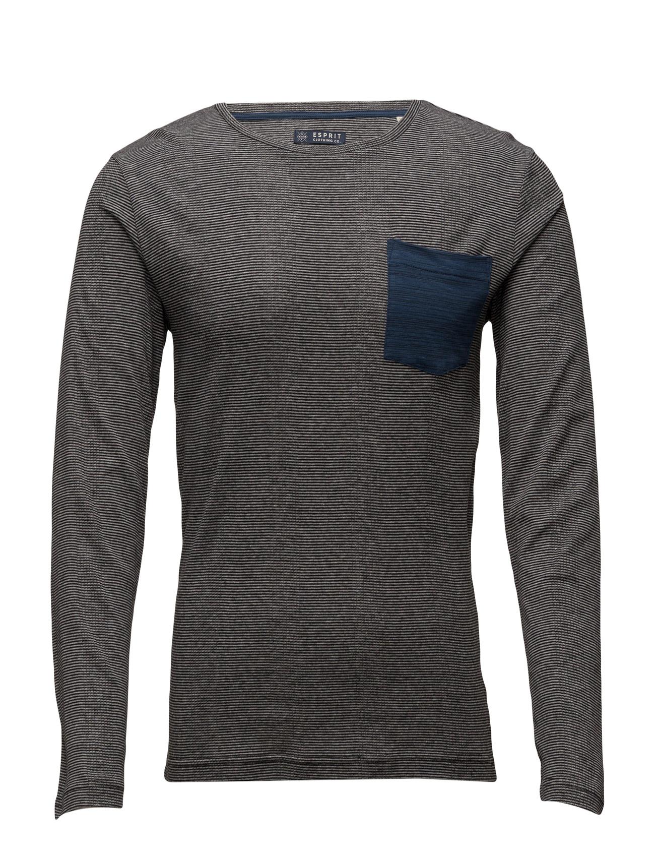 T-Shirts Esprit Casual Langærmede til Herrer i Navy blå