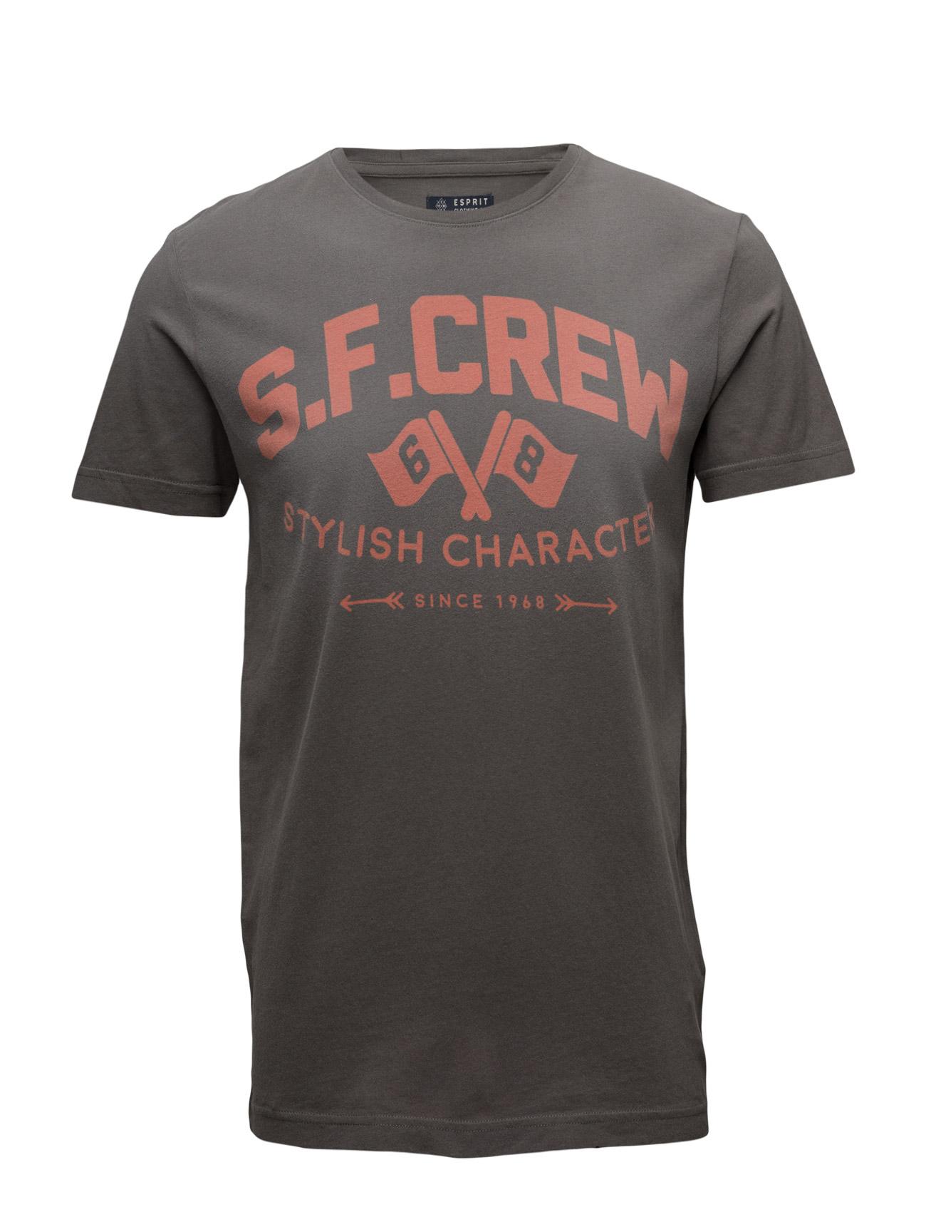 T-Shirts Esprit Casual Kortærmede til Mænd i Navy blå