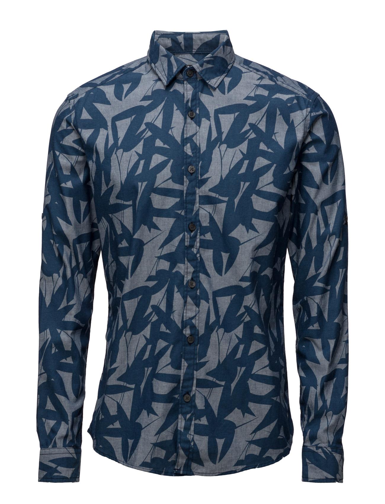 Shirts Woven Esprit Casual Casual sko til Herrer i Navy blå
