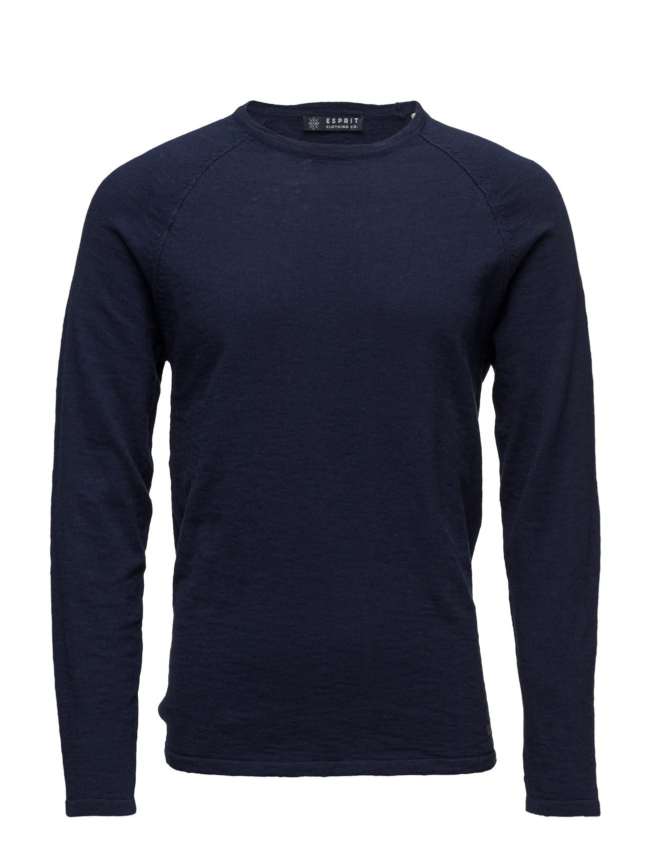 Sweaters Esprit Casual Rundhalsede til Herrer i Off White