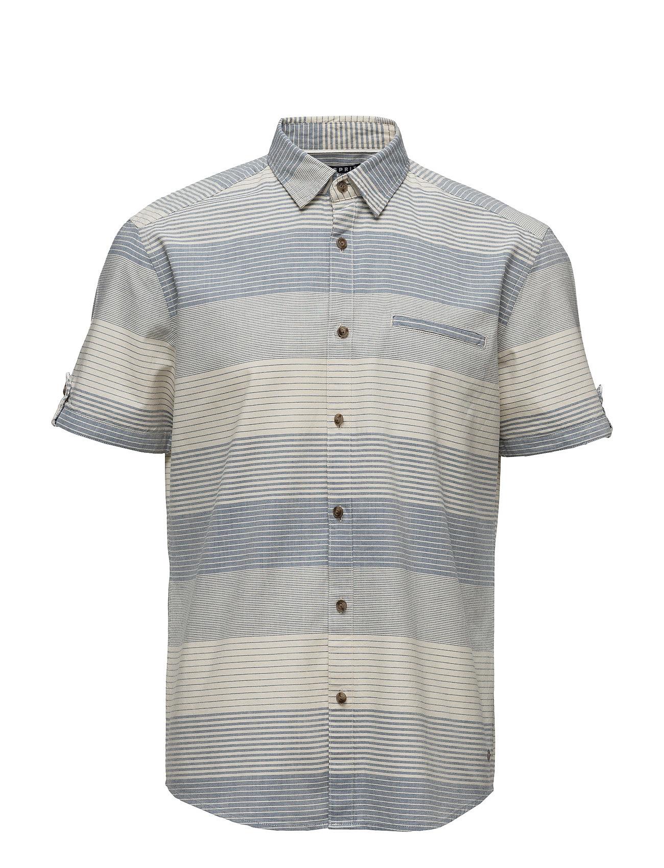Shirts Woven Esprit Casual Kortærmede til Herrer i Off White