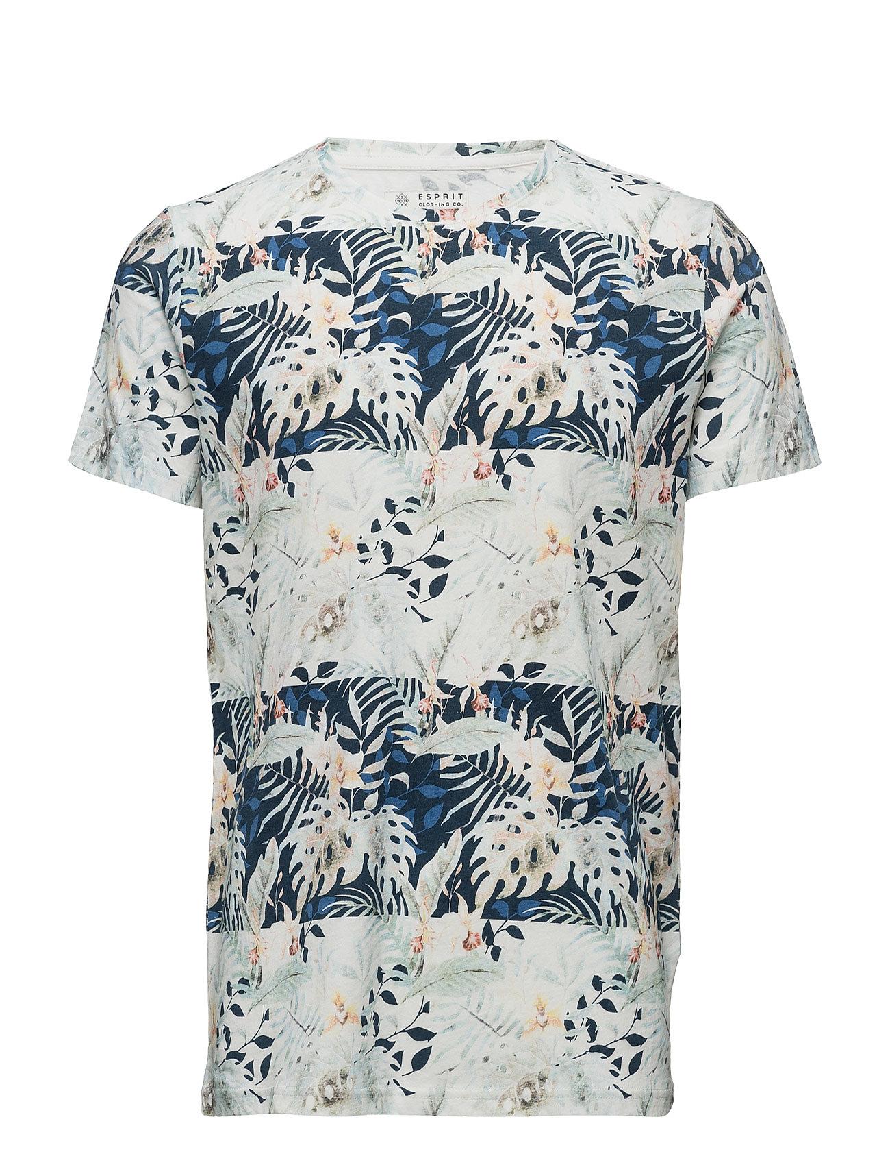 T-Shirts Esprit Casual Kortærmede til Herrer i Navy blå