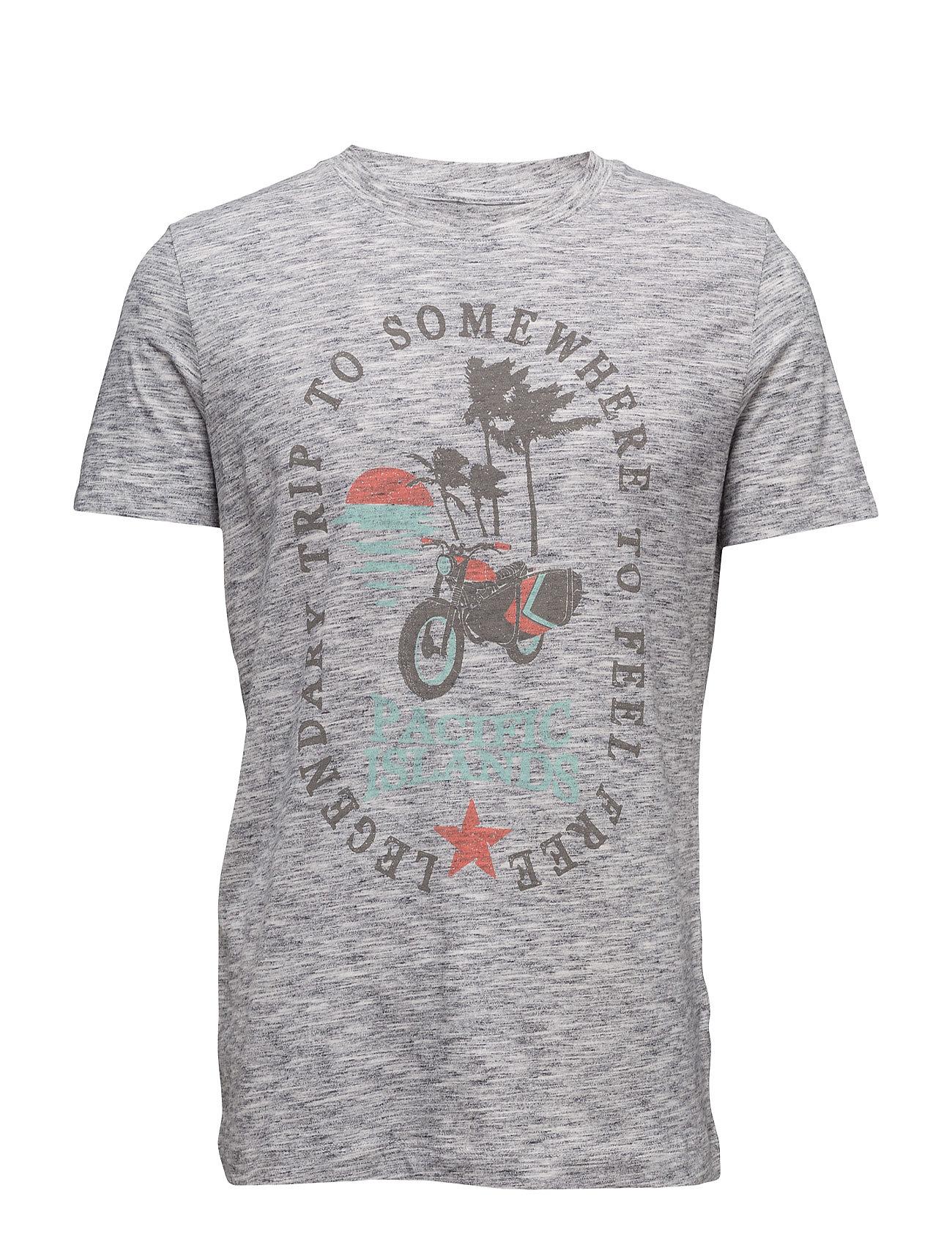 T-Shirts Esprit Casual Kortærmede til Herrer i Mellem grå