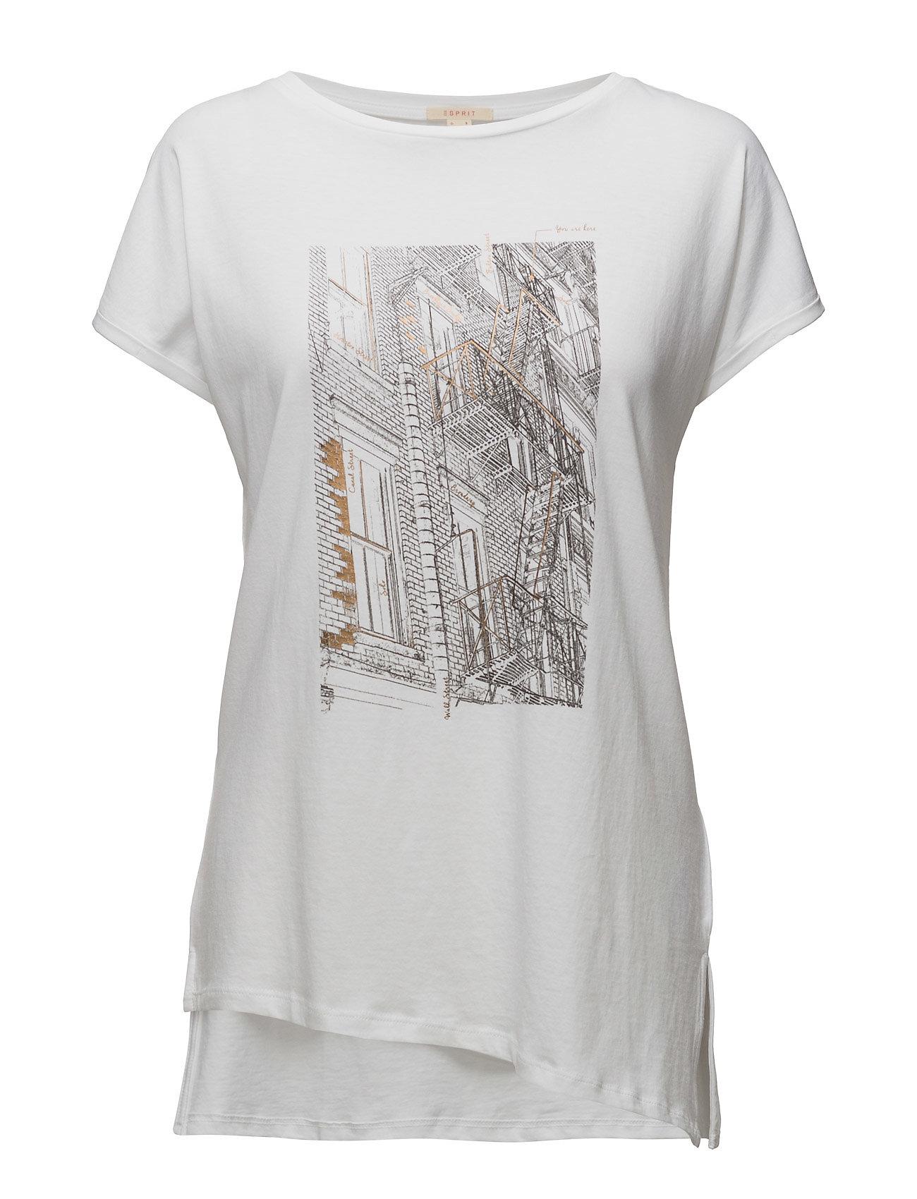 T-Shirts Esprit Casual T-shirts & toppe til Kvinder i hvid