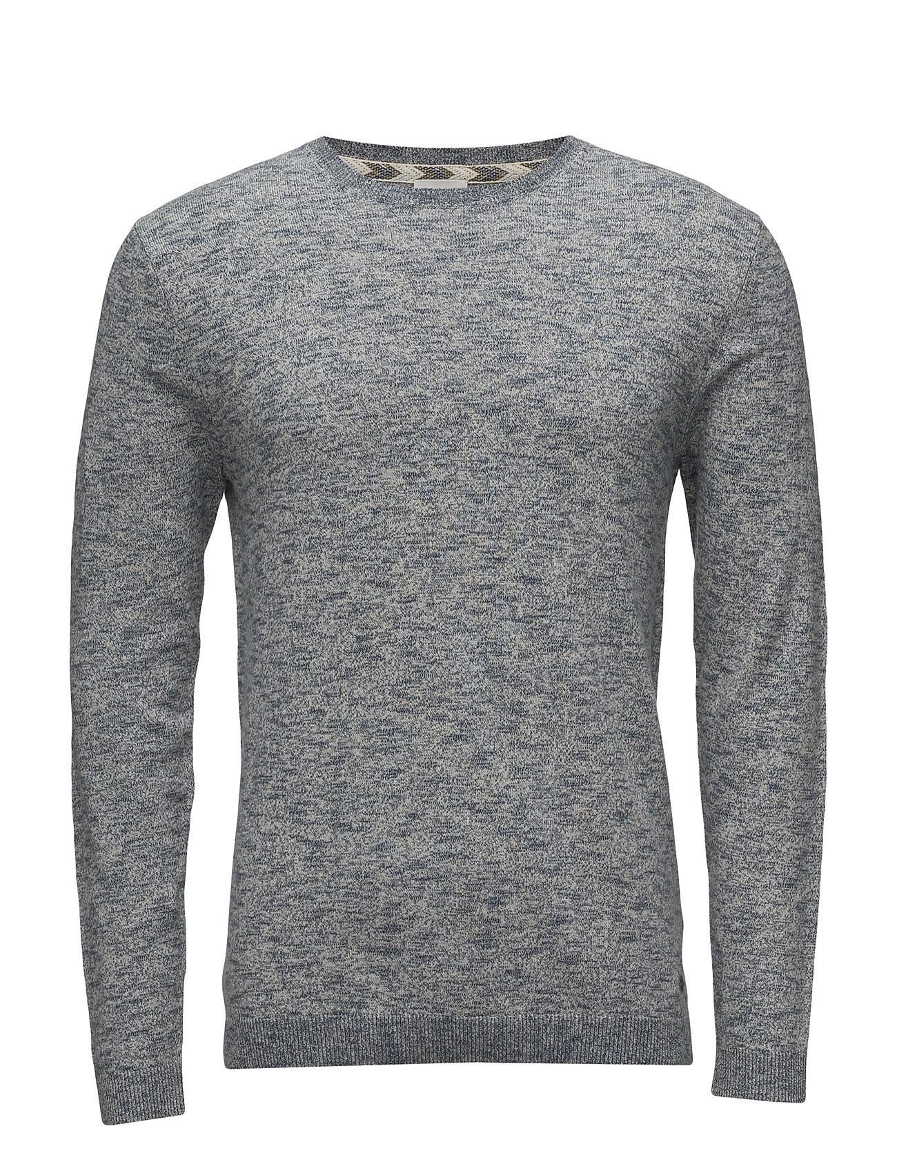 Sweaters Esprit Casual Rundhalsede til Herrer i Blå