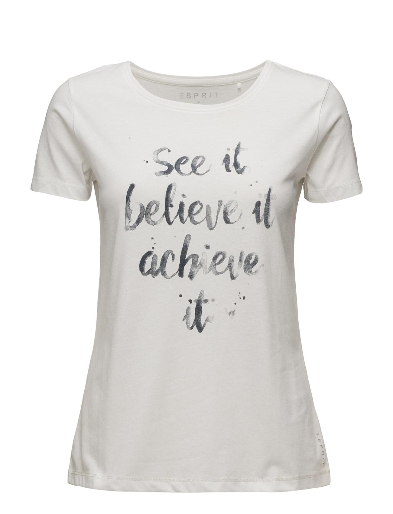 T-Shirts Esprit Casual Kortærmede til Damer i Off White