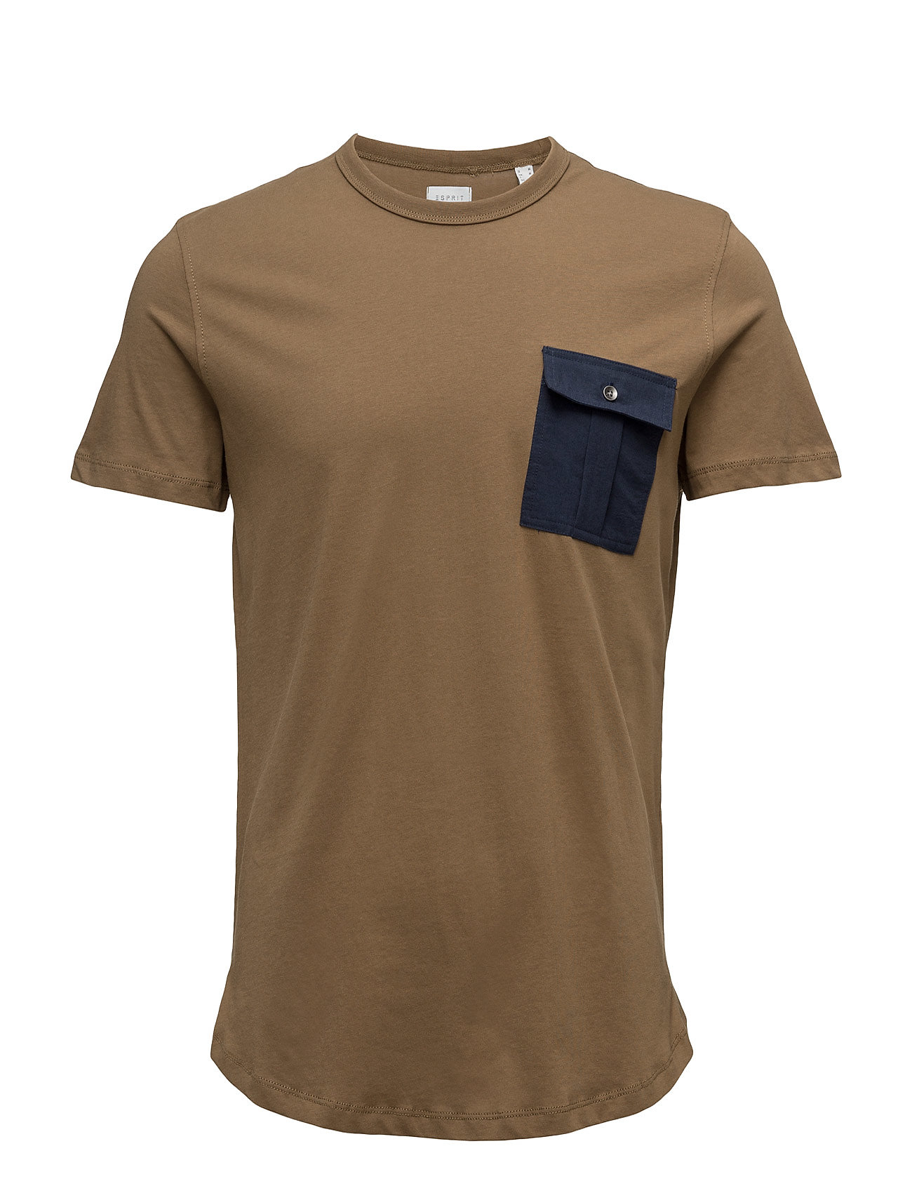T-Shirts Esprit Casual Kortærmede til Herrer i Brun