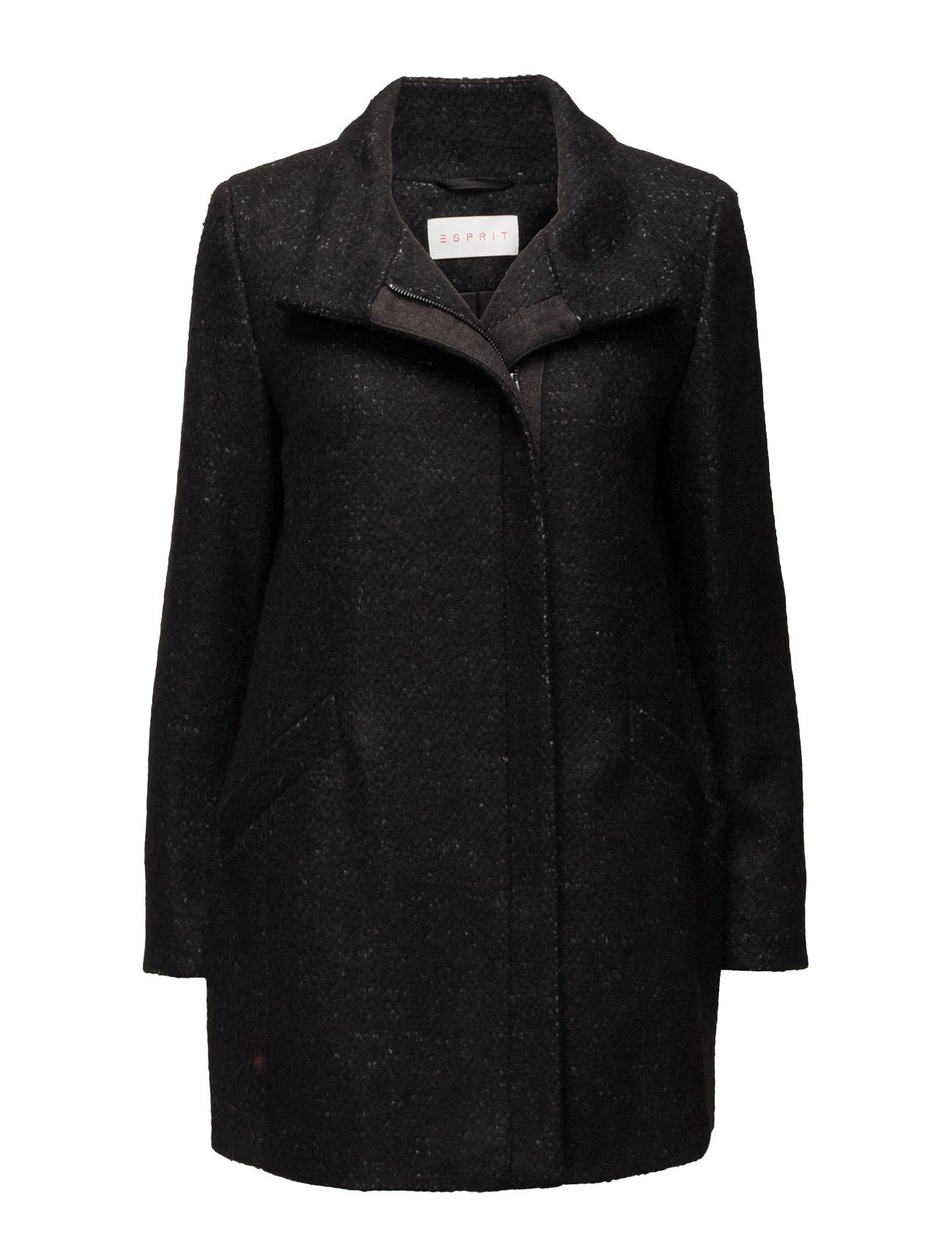 Coats Woven Esprit Casual Frakker til Kvinder i Sort