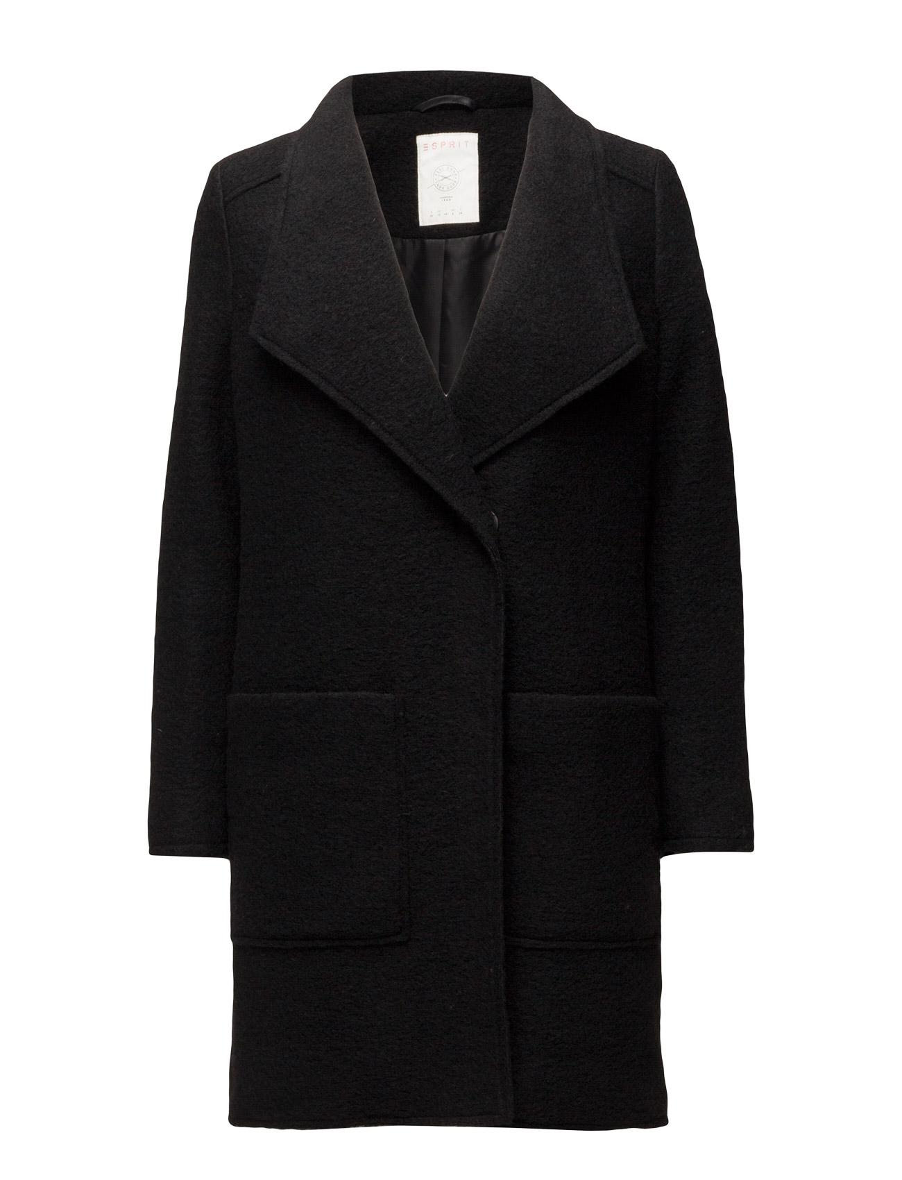 Coats Woven Esprit Casual Frakker til Kvinder i petrol Blå