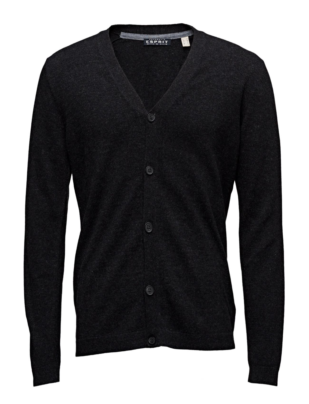 Sweaters Esprit Casual Cardigans til Mænd i Antracit grå