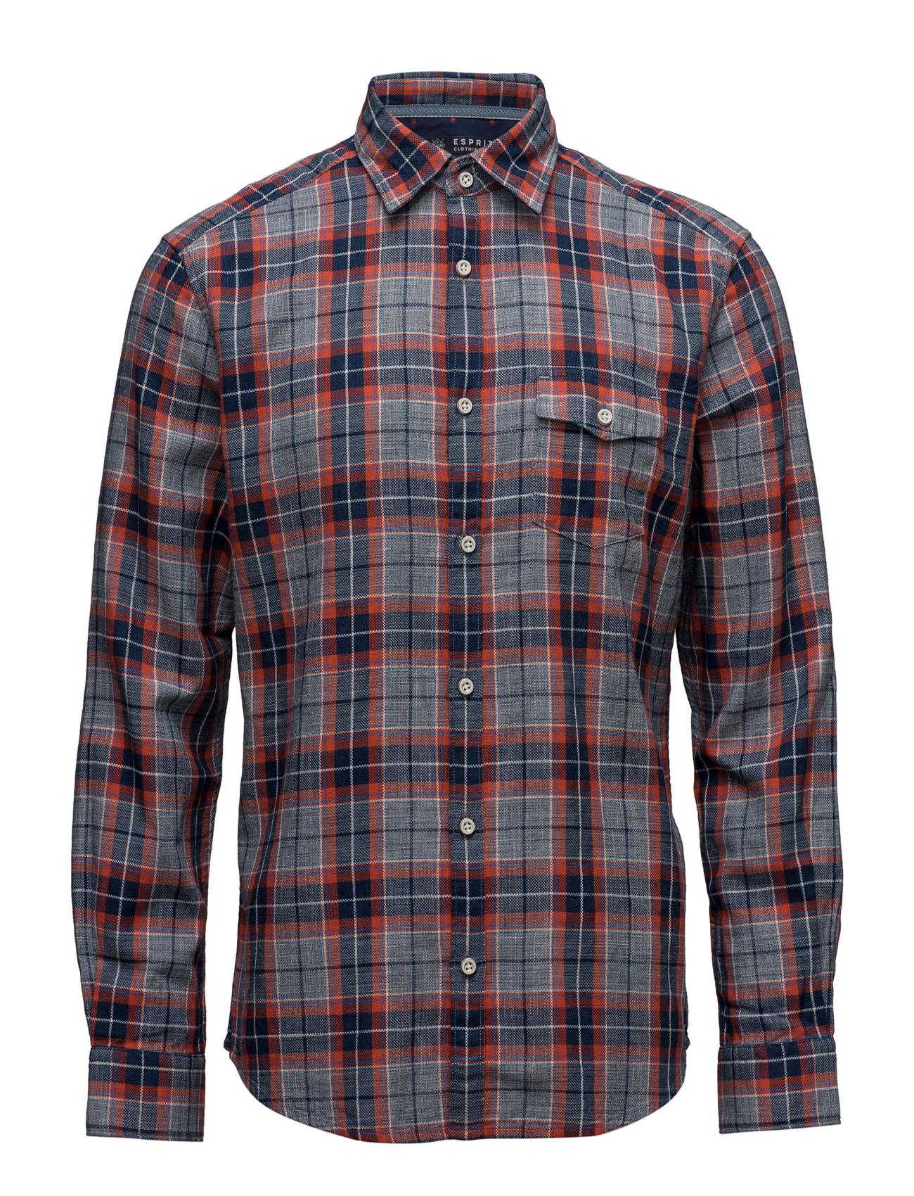 Shirts Woven Esprit Casual Trøjer til Mænd i Navy blå