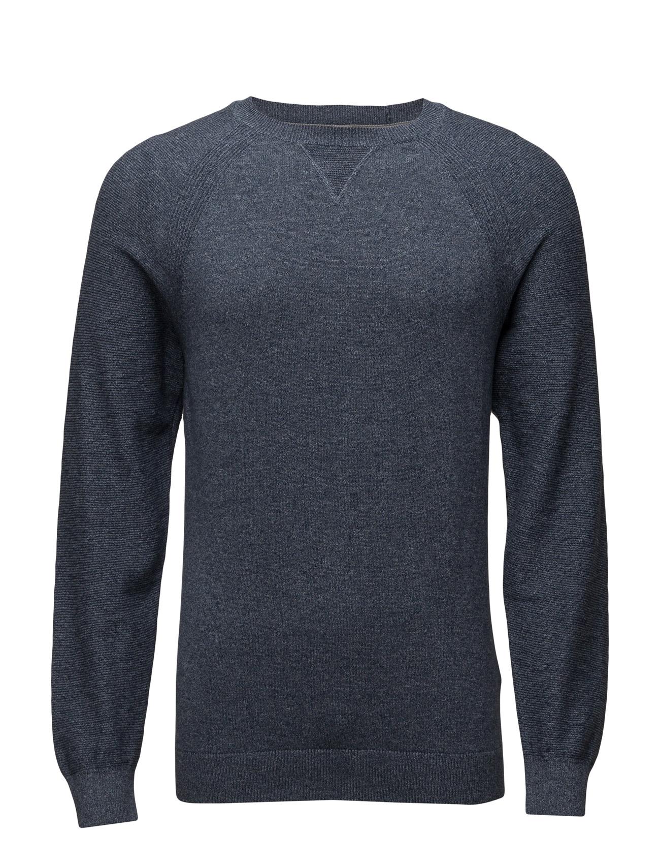 Sweaters Esprit Casual Rundhalsede til Mænd i Blå