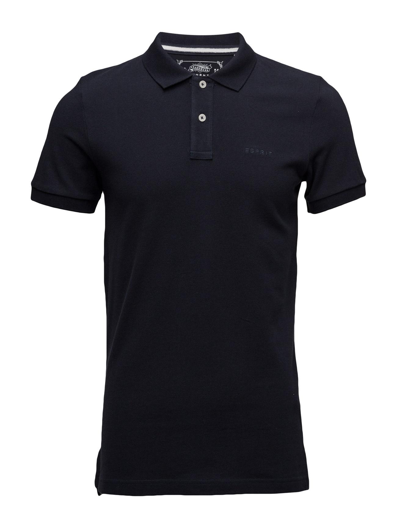 Polo Shirts Esprit Casual Kortærmede polo t-shirts til Mænd i Mellem grå