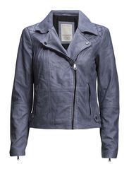 Jackets outdoor leather - blue