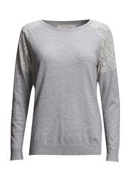 Sweaters - METAL GREY MELANGE