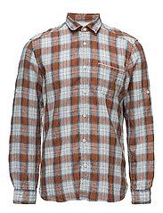 Shirts woven - RUST ORANGE