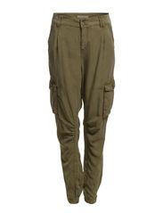 Pants woven - MOSS GREEN
