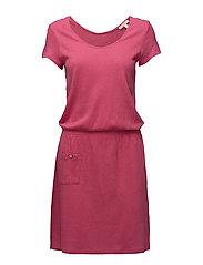 Dresses knitted - PINK FUCHSIA