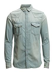 Shirts denim - BLUE LIGHT WASH