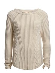 Sweaters - BLEACHED ALMOND