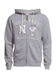 Sweatshirts cardigan - METAL GREY MELANGE