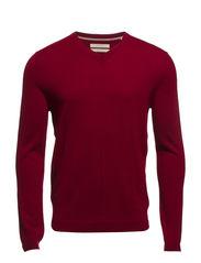 Sweaters - BURGUNDY MELANGE