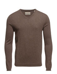 Sweaters - DEER BROWN MELANGE