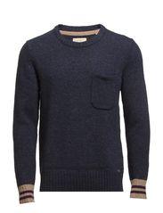Sweaters - HUDSON BLUE MELANGE