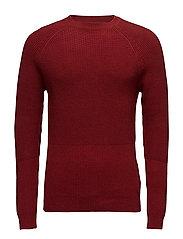Sweaters - GARNET RED