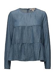 Blouses woven - GREY BLUE