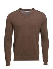 Sweaters - DEER BROWN MELANGE