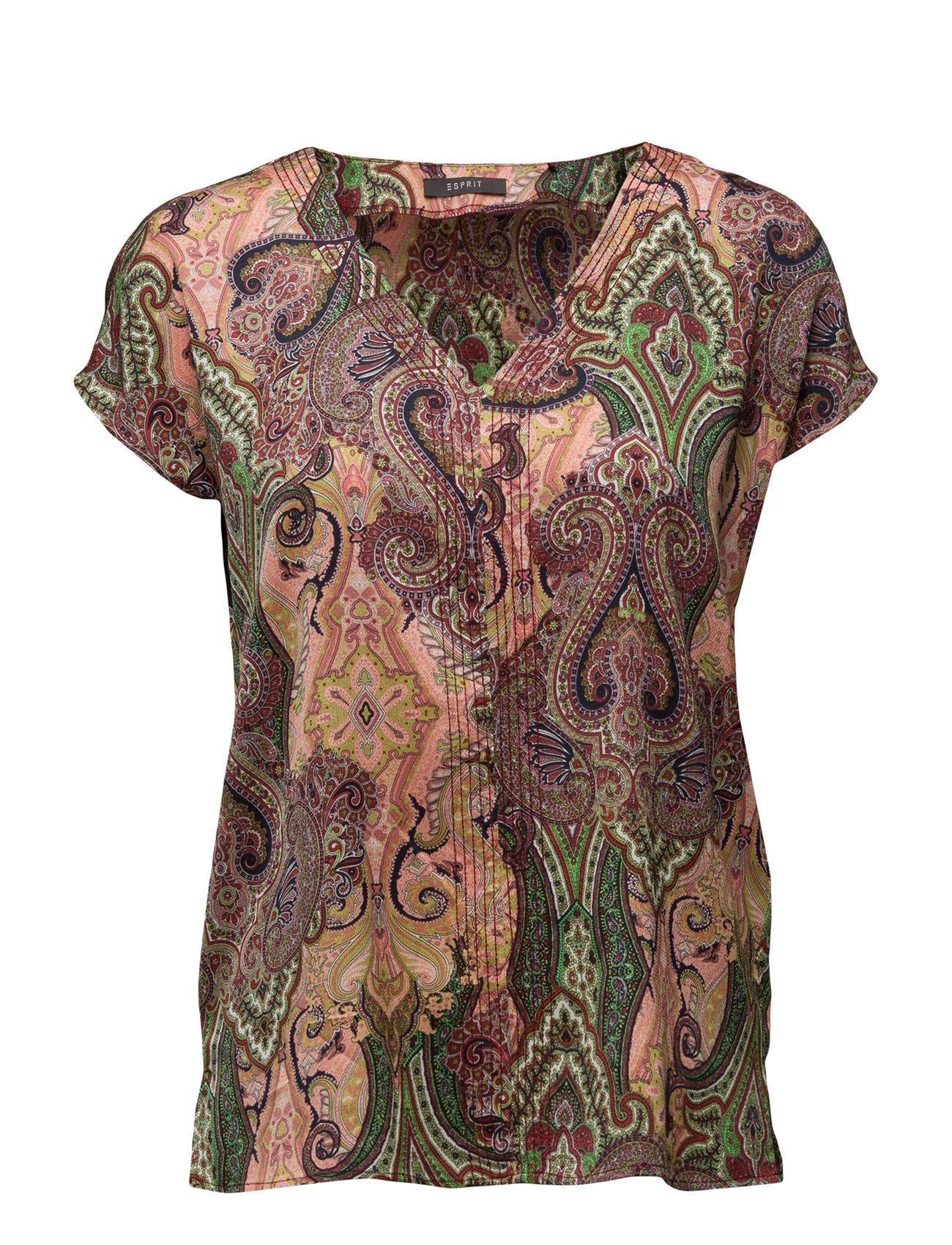 Blouses Woven Esprit Collection Kortærmede til Kvinder i Leaf Green