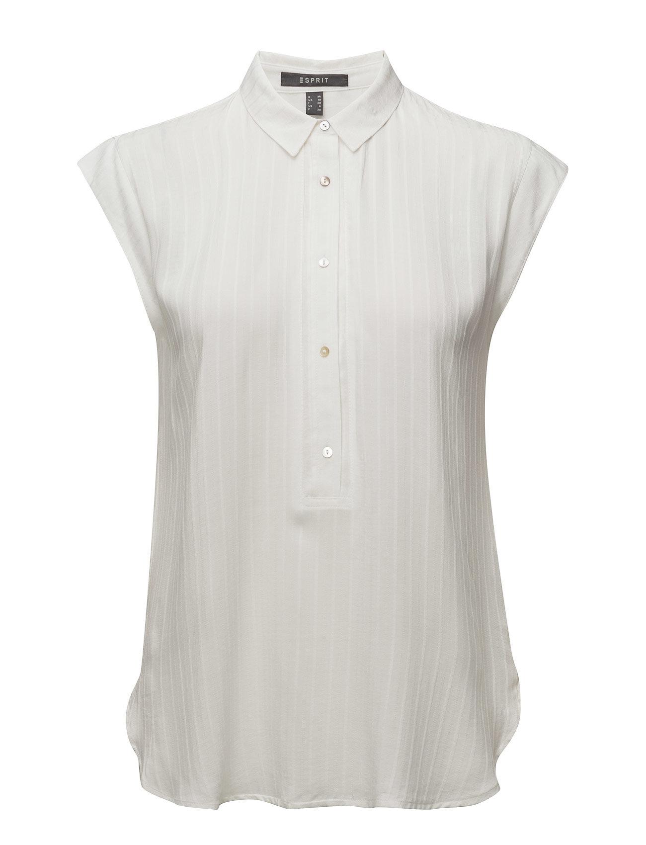 Blouses Woven Esprit Collection Kortærmede til Damer i hvid