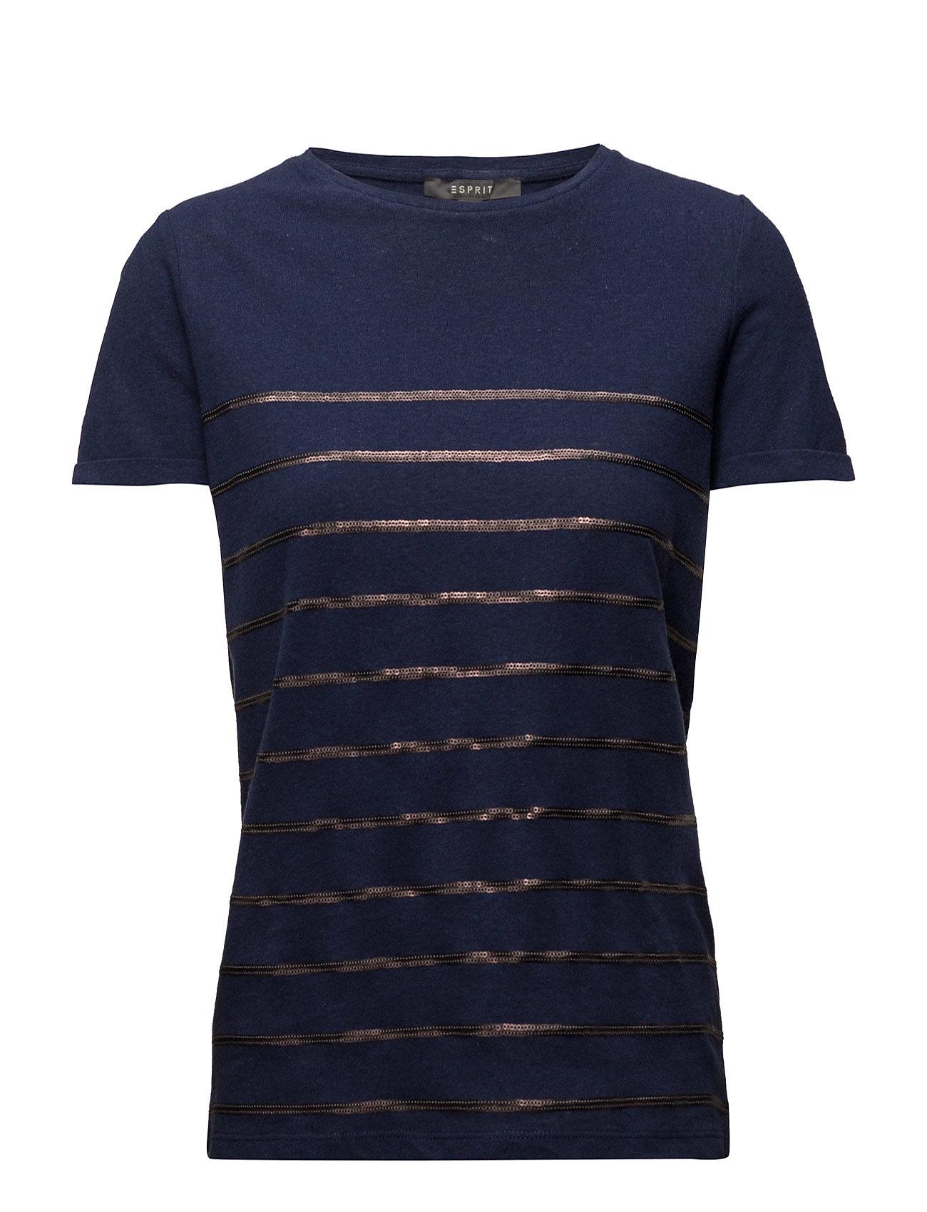T-Shirts Esprit Collection Kortærmede til Damer i Navy blå
