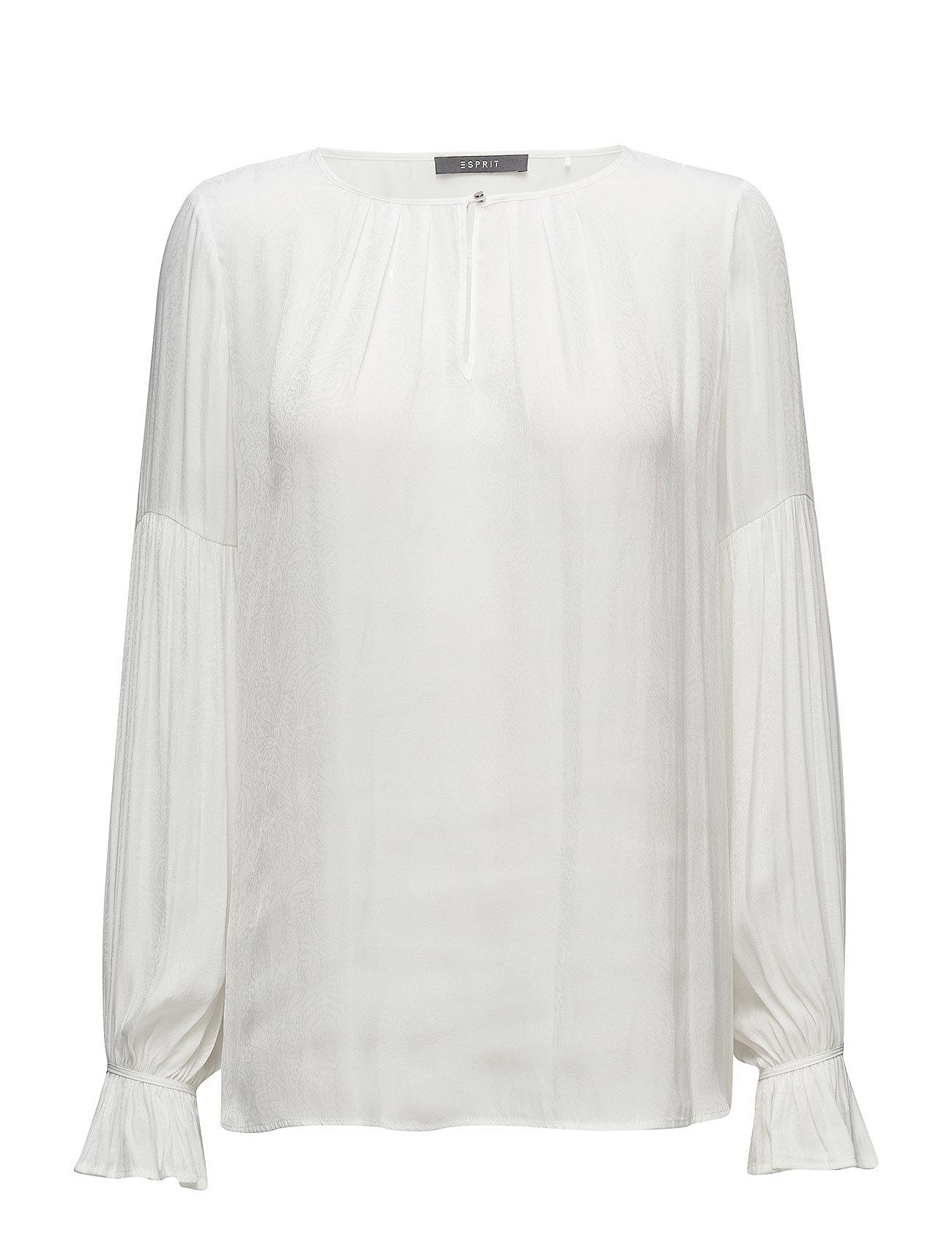 Blouses Woven Esprit Collection Langærmede til Damer i Off White