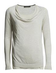 Sweaters - FADED BEIGE MELANGE