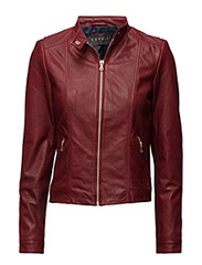Jackets outdoor leather - GARNET RED
