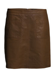 Skirts leather - COGNAC