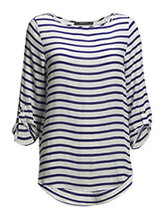 Blouses woven - BLUE OFFWHITE