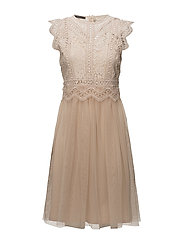 Dresses knitted - BEIGE