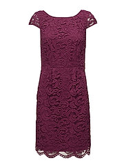 Dresses light woven - BERRY RED