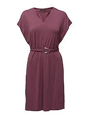Dresses woven - PLUM RED