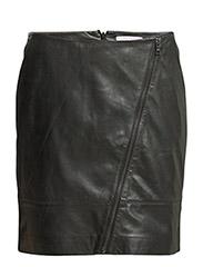Skirts leather - BLACK