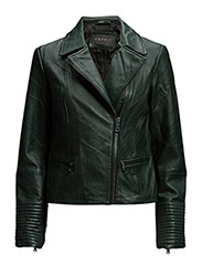 Jackets outdoor leather - DARK TEAL GREEN