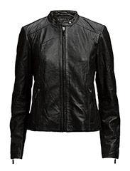 Jackets outdoor leather - BLACK