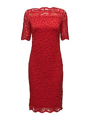 Dresses knitted - ORANGE RED
